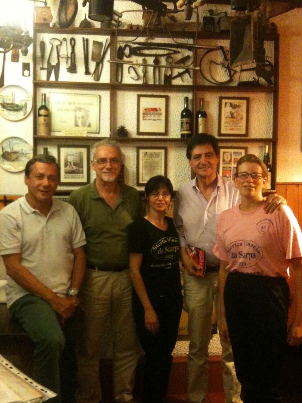 Da sinistra Morandini, e in piedi Efrem Tassinato e Walter Casasola
